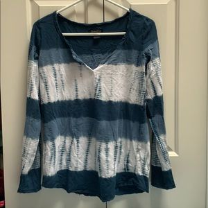 Lucky Brand Tye-Dye Long Sleeve Top